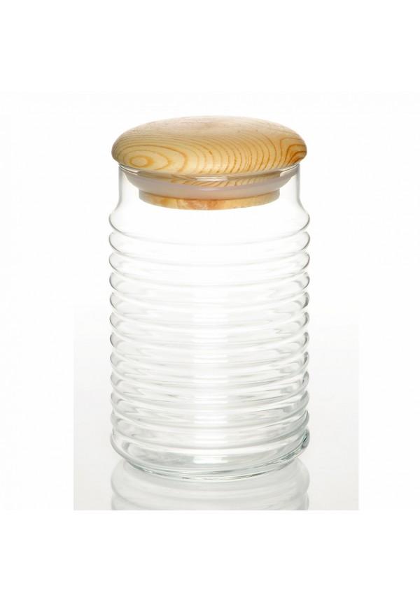 Babylon Jar Medium with wooden Lid - 1100 ml