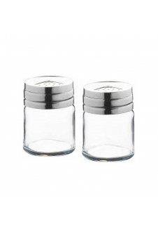 Basic Salt & Paper With Metal Cover 2 Pcs Set