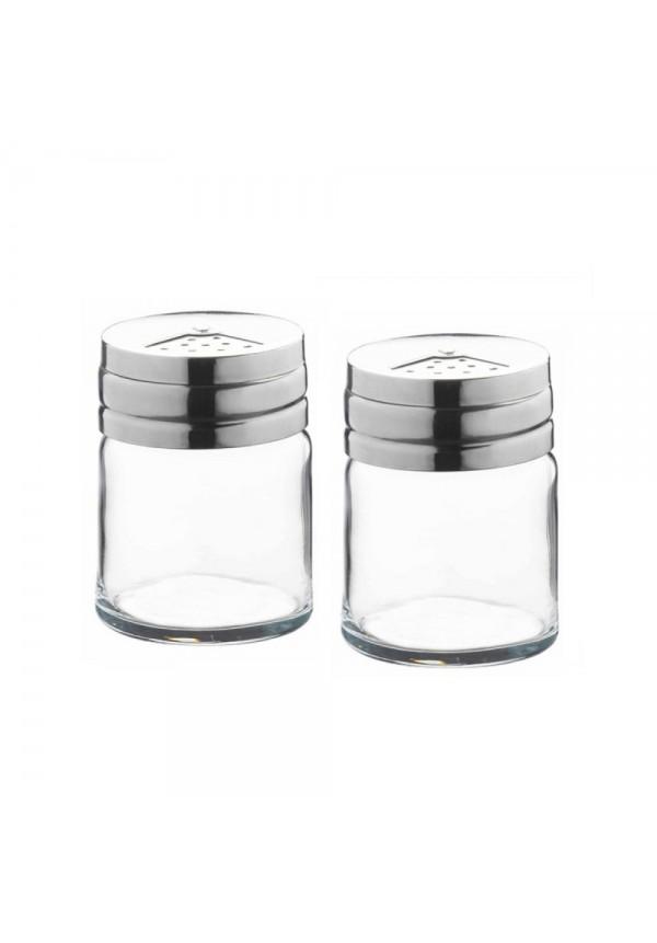 Basic Salt & Paper With Metal Cover 2 Pcs Set
