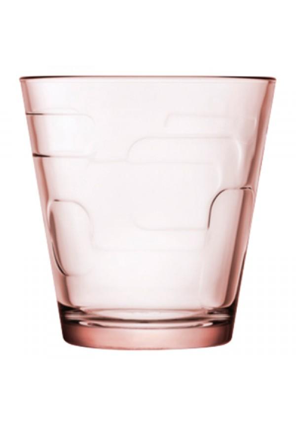 Deco Whisky Glass Pink 250 ml - 6 Pcs