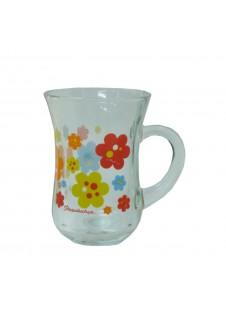 Tea / Coffee Mug With Handle ( Printed) 145 ml, 6 pcs