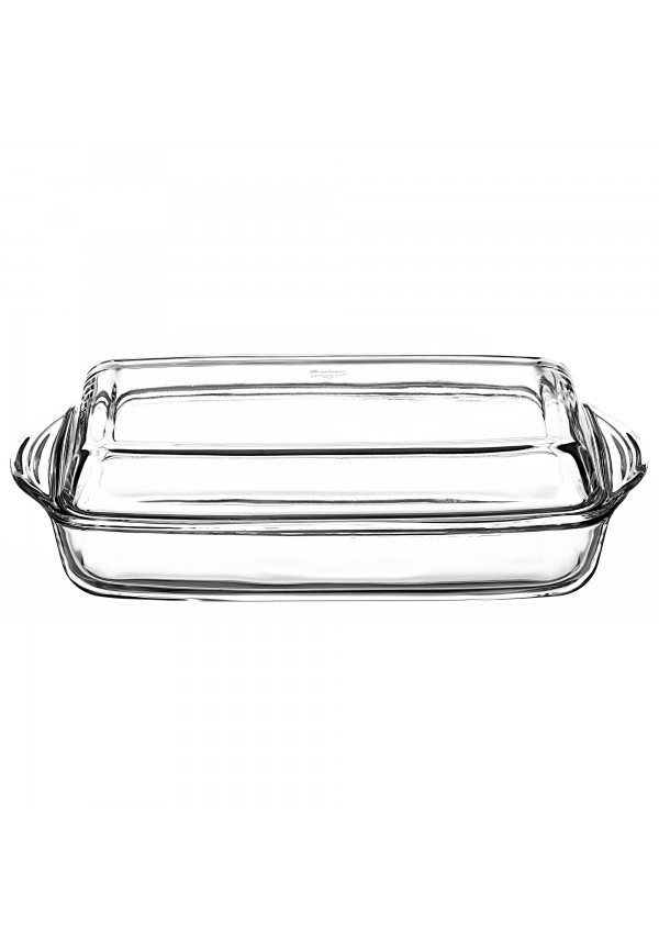 Borcam Rectangular Casserole With Cover 2000 ml