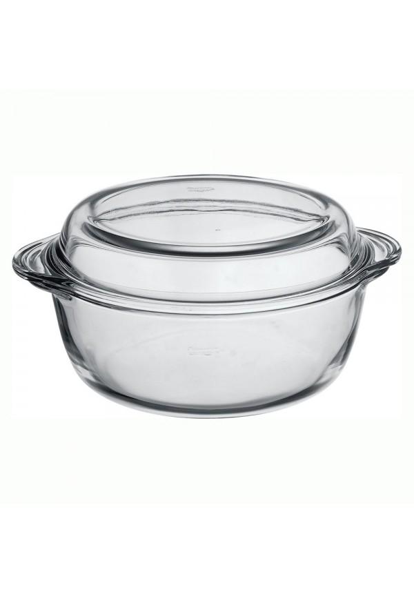 Borcam Round Casserole With Cover 840 ml
