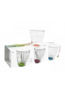Enjoy Tumbler Assorted Colors Glasses Pack of 6,  280 ml
