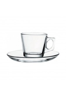 Vela Cups and Saucers 12 Pieces Set, cup-80 ml