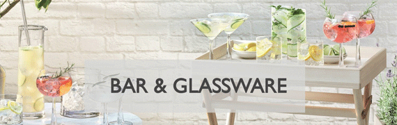 Barware and Cocktail Glassware