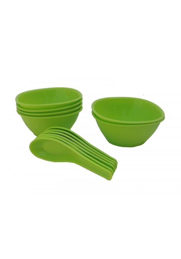 Incrizma 12 Pcs Soup Set , Lime Green
