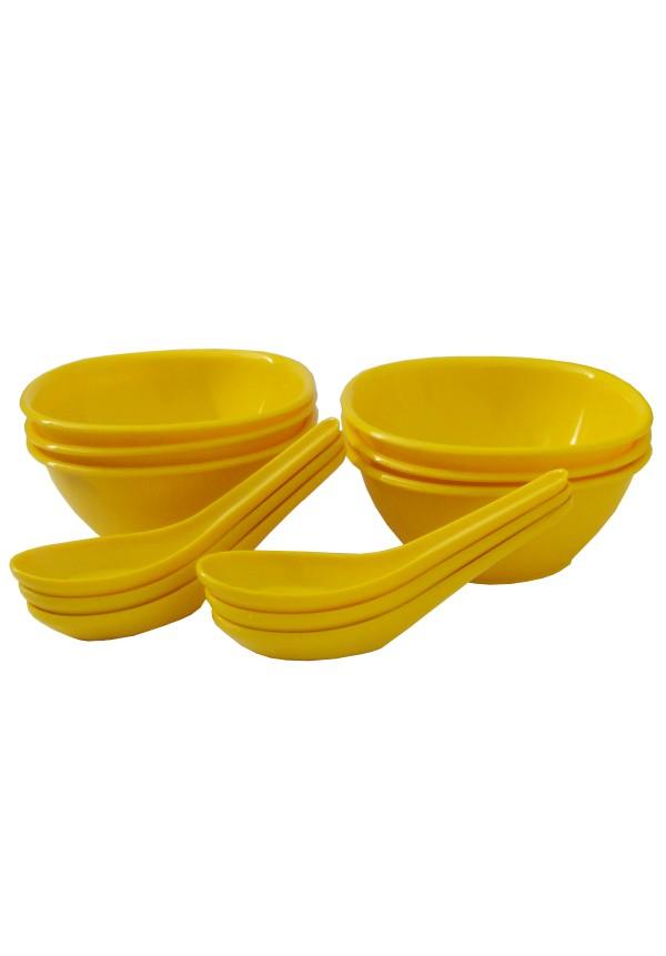 Incrizma 12 Pcs Soup Set , Yellow