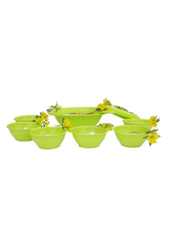 Incrizma 9 Pcs Pudding Set , Lime Green