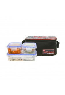 Incrizma  Yummy Dlx Lunch Box with Three Containers