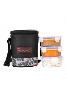 Incrizma Yummy Trio Lunch Box with Three Containers